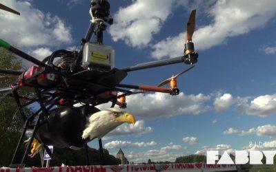 Lâcher d'aigle par drone pour Claude LELOUCH et Johnny Hallyday sur une idée de Pierre CADÉAC